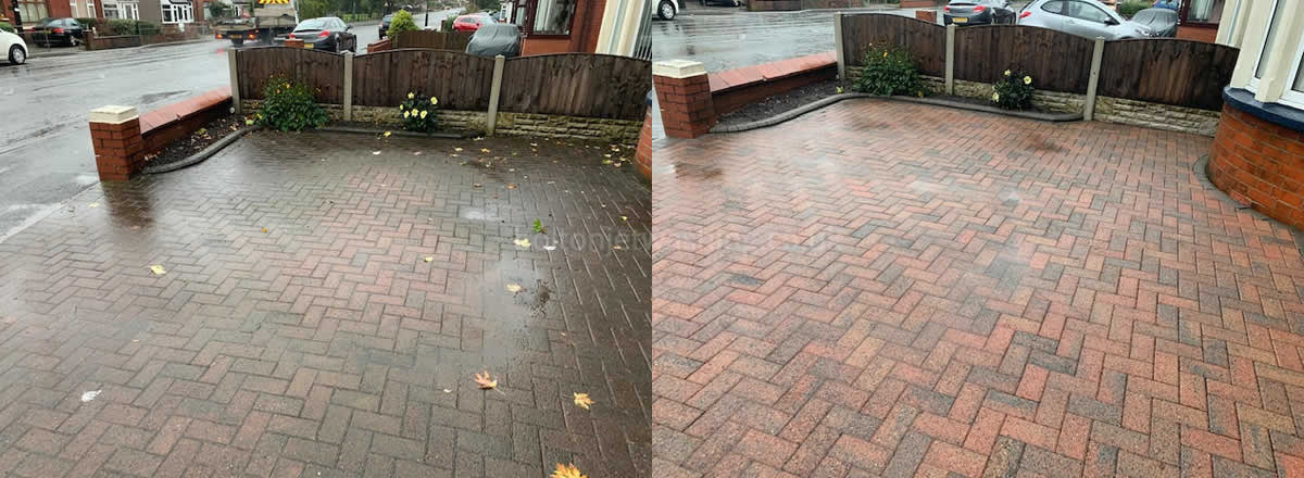 power washing block paving cleaning bolton